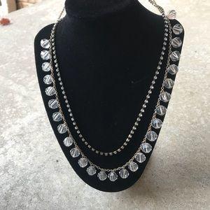 J. Crew bead and rhinestone necklace